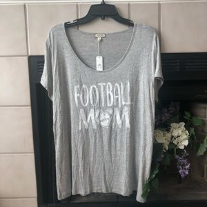 New Football Mom grey shirt size XL